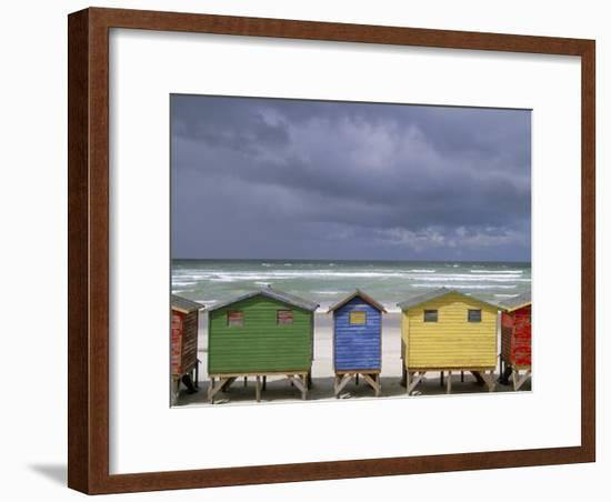 Beach Huts, Muizenberg, Cape Peninsula, South Africa, Africa-Steve & Ann Toon-Framed Photographic Print