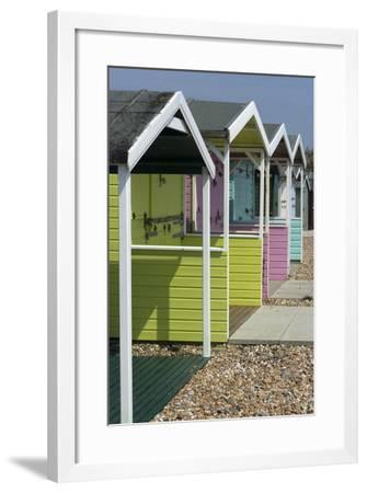 Beach Huts, Rustington, Near Littlehampton, Sussex, England-Natalie Tepper-Framed Photo