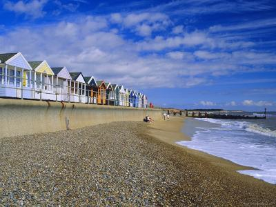 Beach Huts, Southwold, Suffolk, England, UK, Europe-Fraser Hall-Photographic Print