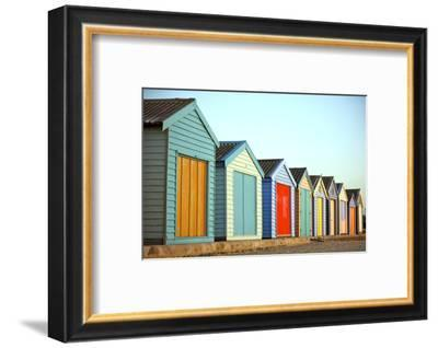 Beach Huts-instinia-Framed Photographic Print
