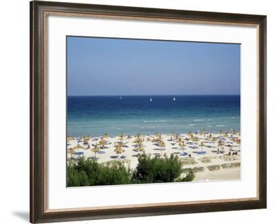Beach in Alcudia, Majorca, Balearic Islands, Spain, Mediterranean-Hans Peter Merten-Framed Photographic Print