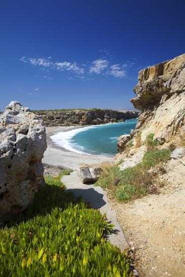 Beach in Rethymno, Crete, Greek Islands, Greece, Europe-Sakis Papadopoulos-Photographic Print