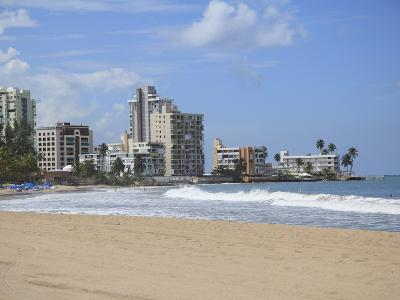 Beach, Isla Verde, San Juan, Puerto Rico, West Indies, Caribbean, USA, Central America-Wendy Connett-Photographic Print