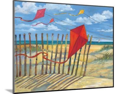 Beach Kites Red-Paul Brent-Mounted Print
