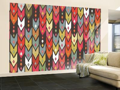 Beach Knit Ikat Arrow-Sharon Turner-Wall Mural – Large