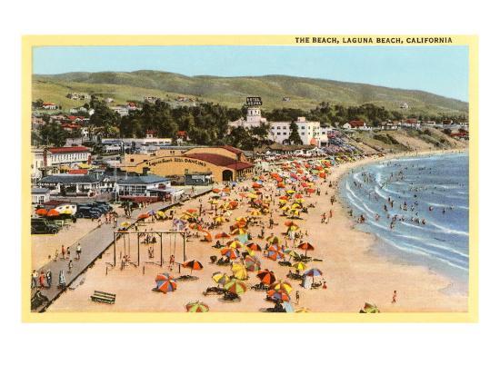 Beach, Laguna Beach, California--Art Print