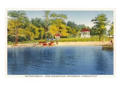 Beach, Lake Quassapaug, Waterbury, Connecticut--Art Print