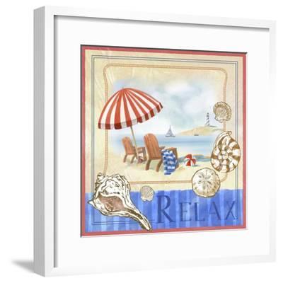 Beach Life I-Fiona Stokes-Gilbert-Framed Giclee Print