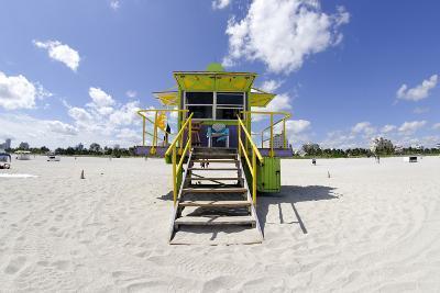 Beach Lifeguard Tower '12 St', in Art Deco Style, Miami South Beach-Axel Schmies-Photographic Print