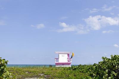 Beach Lifeguard Tower '83 St', Atlantic Ocean, Miami South Beach, Florida, Usa-Axel Schmies-Photographic Print