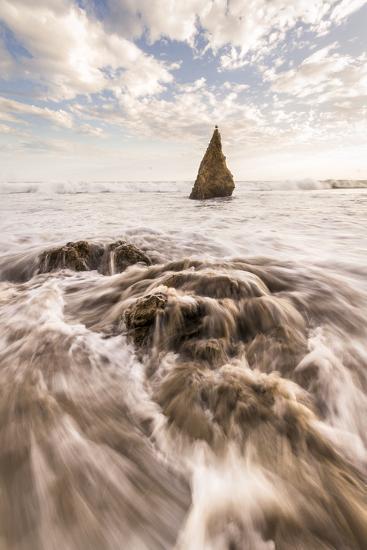 Beach, Malibu, California, USA: Famous El Matador Beach During Sunset In Summer-Axel Brunst-Photographic Print