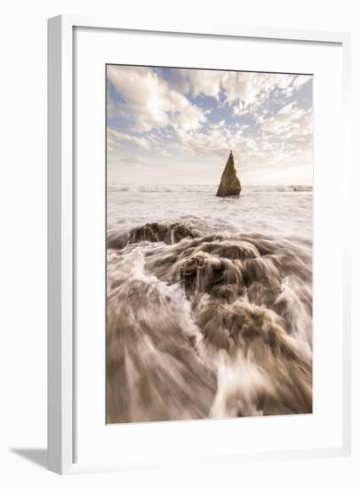 Beach, Malibu, California, USA: Famous El Matador Beach During Sunset In Summer-Axel Brunst-Framed Photographic Print