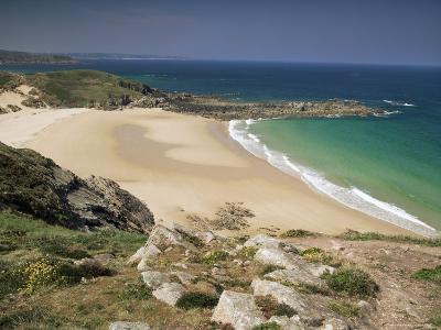 Beach Near Cap Frehel, Emerald Coast, Brittany, France-Michael Busselle-Photographic Print