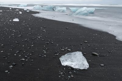 Beach Near the Glacial Lagoon Jokulsarlon and Glacier Breithamerkurjokull in Vatnajokull, Iceland-Martin Zwick-Photographic Print