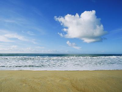 Beach, Ocean, Sky, and Clouds Above Cape Hatteras--Photographic Print
