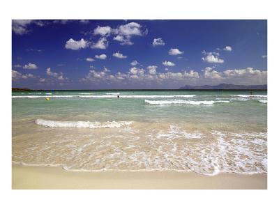 Beach of Alcudia, Mallorca, Balearic Islands, Spain--Art Print