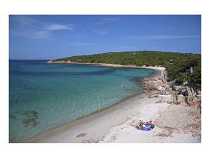 Beach of Cala Portese on Caprera Island, La Maddalena Archipelago, Sardinia, Italy
