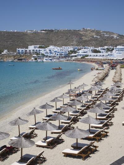 Beach of Platys Gyalis, Mykonos, Cyclades, Greek Islands, Greece, Europe-Angelo Cavalli-Photographic Print