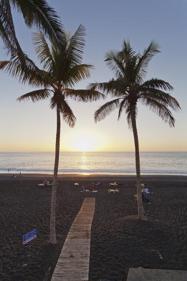 Beach of Puerto Naos at Sunset, La Palma, Canary Islands, Spain, Atlantic, Europe-Markus Lange-Photographic Print