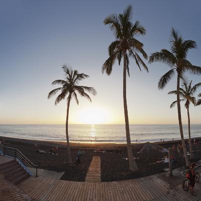 Beach of Puerto Naos at Sunset, La Palma, Canary Islands, Spain, Europe-Markus Lange-Photographic Print