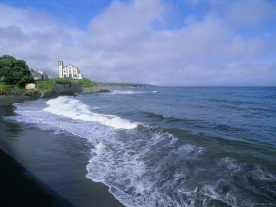 Beach of Town of Lagoa, Sao Miguel Island, Azores, Portugal, Europe, Atlantic Ocean-J P De Manne-Photographic Print