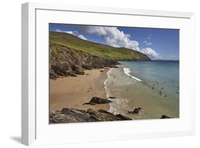 Beach on Dunmore Head, at the western end of the Dingle Peninsula, County Kerry, Munster, Republic-Nigel Hicks-Framed Photographic Print