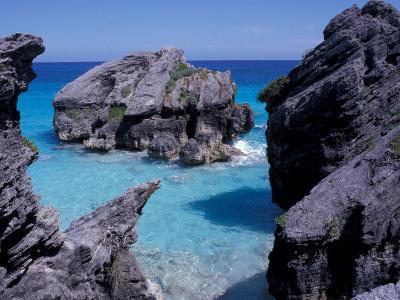 Beach on South Coast, Bermuda, Caribbean-Alan Klehr-Photographic Print