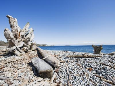 Beach on the Strait of Juan De Fuca, Victoria, Vancouver Island, British Columbia, Canada-Christian Kober-Photographic Print