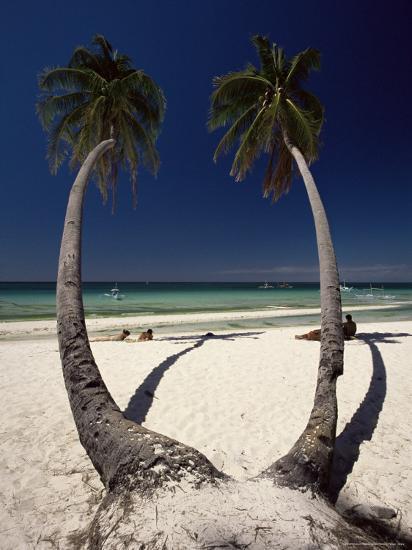 Beach on West Coast of Holiday Island off the Coast of Panay, Boracay, Philippines-Robert Francis-Photographic Print