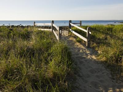 Beach Path at the Center Hill Preserve, Plymouth, Massachusetts, USA-Jerry & Marcy Monkman-Photographic Print