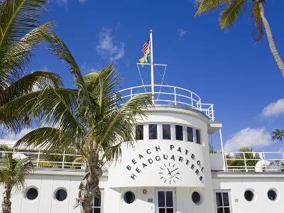 Beach Patrol Headquarters on South Beach, City of Miami Beach, Florida, USA, North America-Richard Cummins-Photographic Print