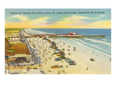 Beach, Pier, Jacksonville, Florida--Art Print