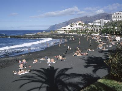 Beach, Playa De La Arena, Tenerife, Canary Islands, Spain, Atlantic, Europe-Roy Rainford-Photographic Print
