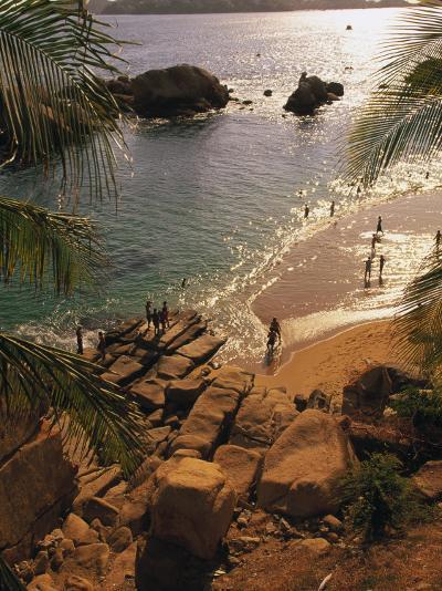 Beach, Playa Hornitos, Acapulco, Mexico-Walter Bibikow-Photographic Print