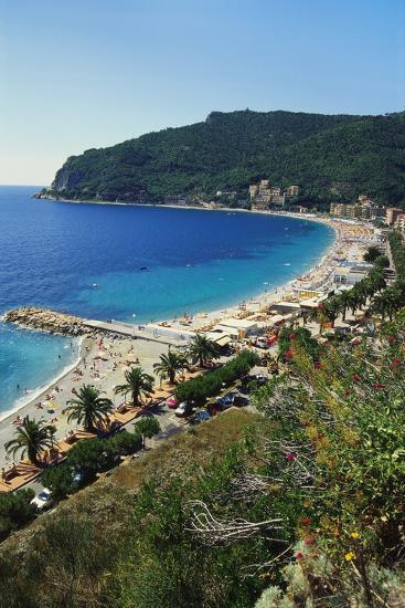 Beach Resort in Liguria, Italy-Sheila Terry-Photographic Print