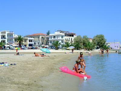 Beach, Rethymnon, Crete, Greece-Peter Thompson-Photographic Print