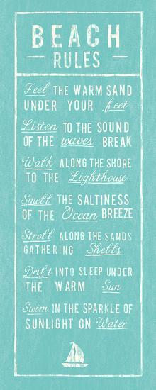 Beach Rules - Aqua-The Vintage Collection-Art Print