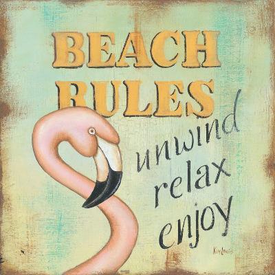 Beach Rules-Kim Lewis-Art Print