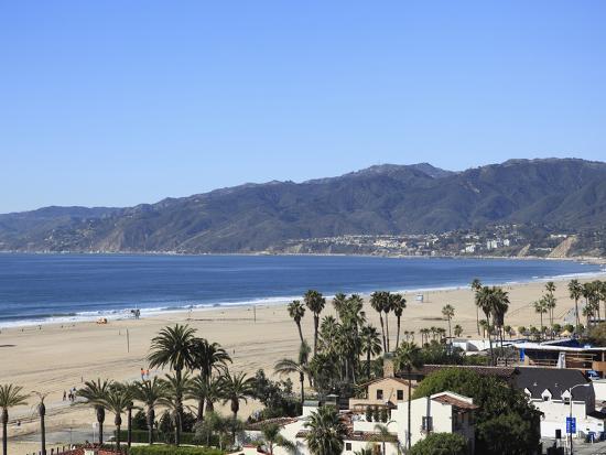 Beach Santa Monica Malibu Mountains Los Angeles California Usa Wendy