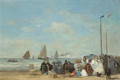 Beach Scene at Trouville, 1863-Eugene Louis Boudin-Giclee Print