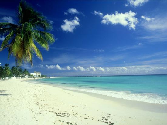 Beach Scene Barbados Photographic Print Mike England Art Com
