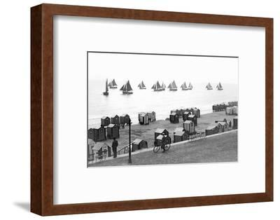 Beach Scene in Victorian England, Ca. 1900