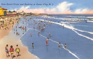 Beach Scene, Ocean City, New Jersey