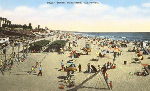Beach Scene, Oceanside, California