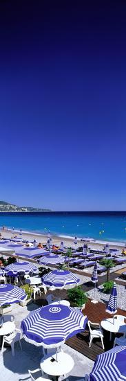 Beach Scene on French Riviera (Nice) France--Photographic Print