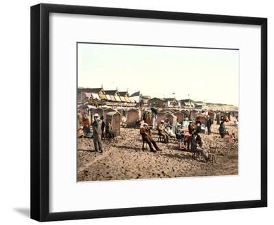 Beach Scene, Westerland, Germany, Pub. C.1895