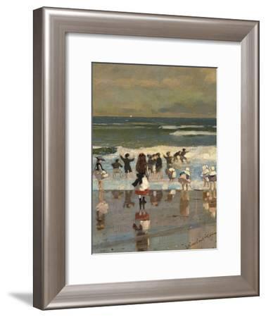 Beach Scene-Winslow Homer-Framed Giclee Print