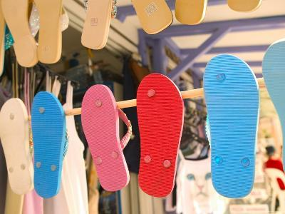 Beach Shoes, Bourg Des Saintes, Grande Terre, Guadaloupe, Caribbean-Walter Bibikow-Photographic Print