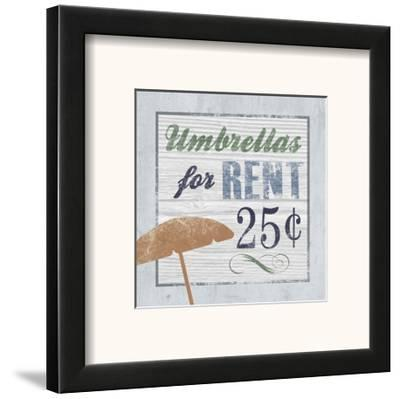Beach Sign III--Framed Art Print