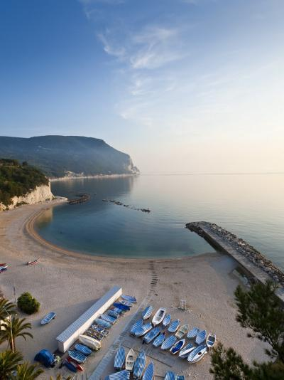 Beach, Sirolo, Marche, Italy-Peter Adams-Photographic Print